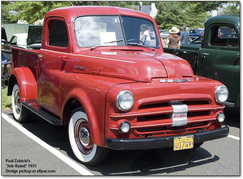 1951 Dodge Pickup truck job-rated