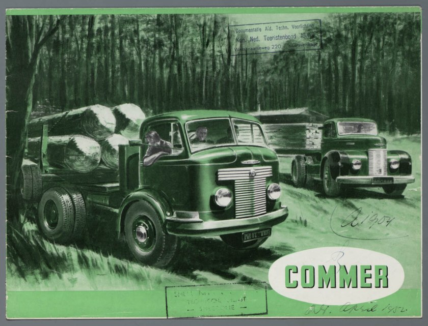 1952 Commer alle typen brochure a