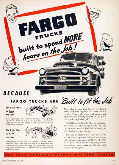 1952 fargo stake truck