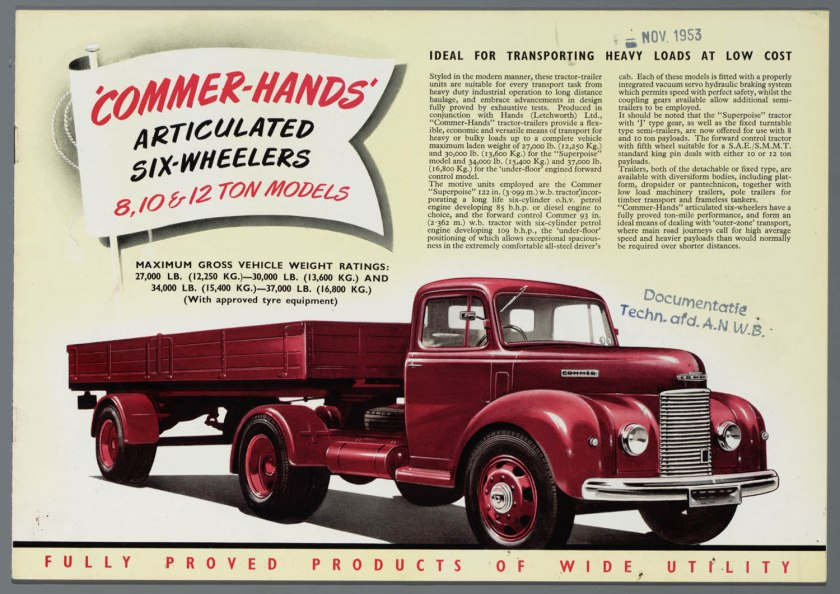 1953 Commer 8,10 & 12 Ton a