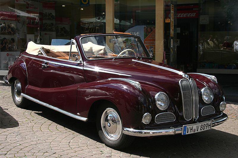 1956 BMW 502 cabriolet van Baur