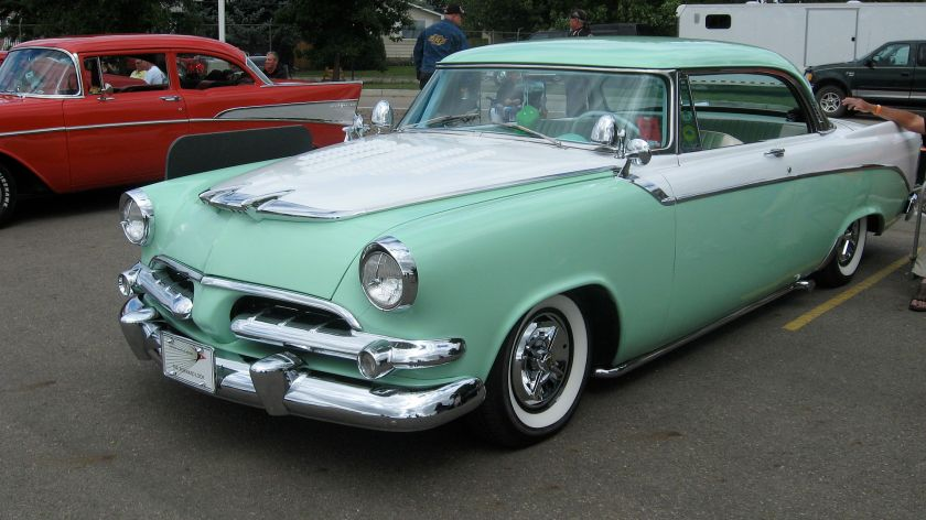 1956 Dodge Coronet Royal Lancer with custom chrome flipper hubcaps