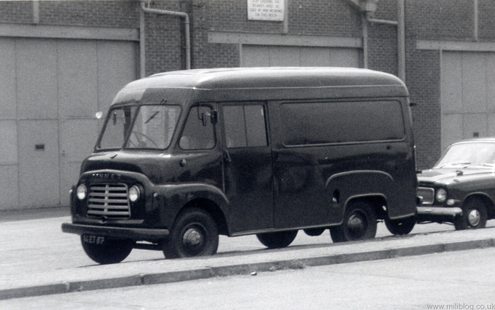 1957 COMMER VAN Black