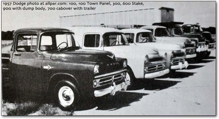 1957 Dodge-lineup