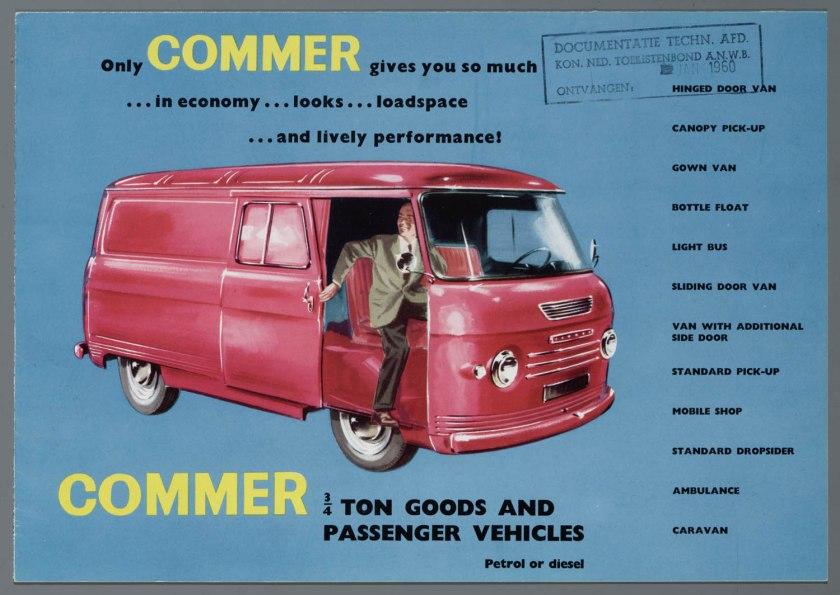 1960 Commer 3 vierde ton Brochure