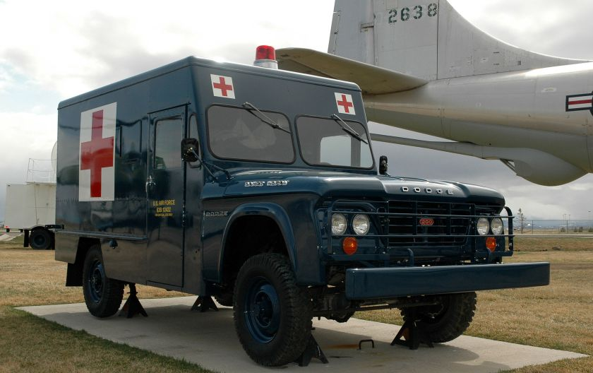 1963 Power Wagon ambulance, on display at Malmstrom Air Force Base, Montana