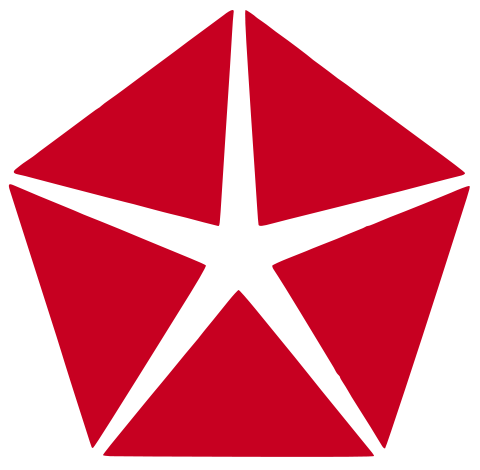 1966-96 Dodge Red Pentastar logo.svg
