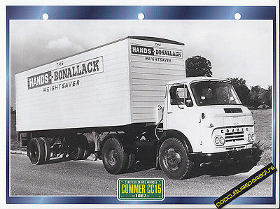 1967-COMMER-CC15-TRUCK-HISTORY-PHOTO-SPEC-SHEET