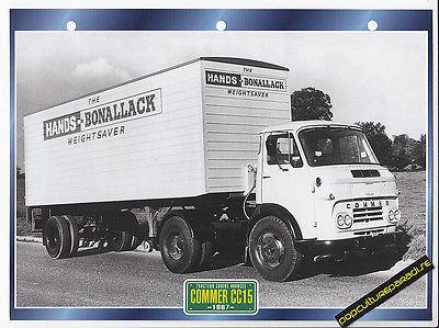1967-COMMER-CC15-TRUCK-HISTORY-PHOTO-SPEC-SHEET
