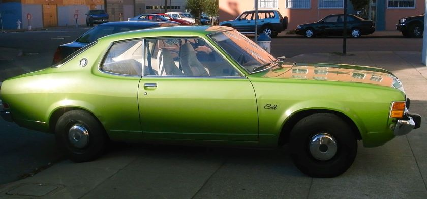 1974-77 Dodge Colt coupé.