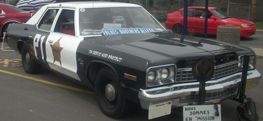 1975 Dodge Monaco 4-door sedan. Blues Brothers