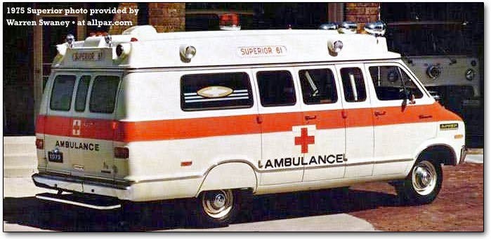 1975 Dodge superior-ambulance