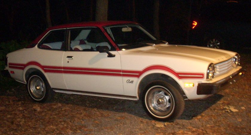 1977-78 Dodge Colt Mileage Maker 6M21 or 6H21 model. Mitsubishi Lancer-based.