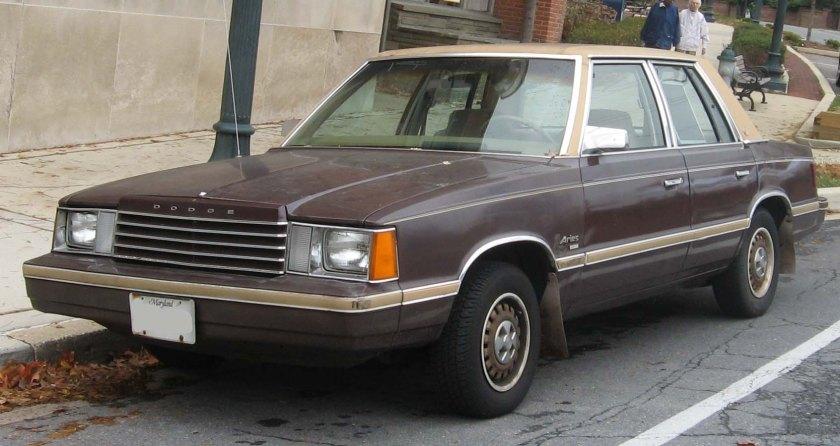 1981-82 Dodge Aries sedan