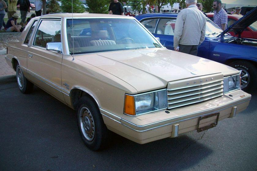 1981 Dodge Aries coupé