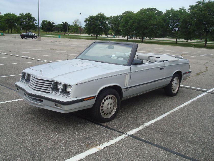 1984 Dodge 600 ES Turbo Convertible