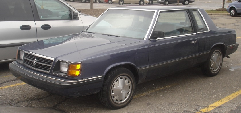 1985–89 Dodge Aries coupé