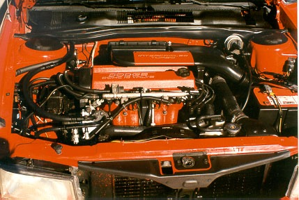 1991 Dodge Spirit RT engine bay
