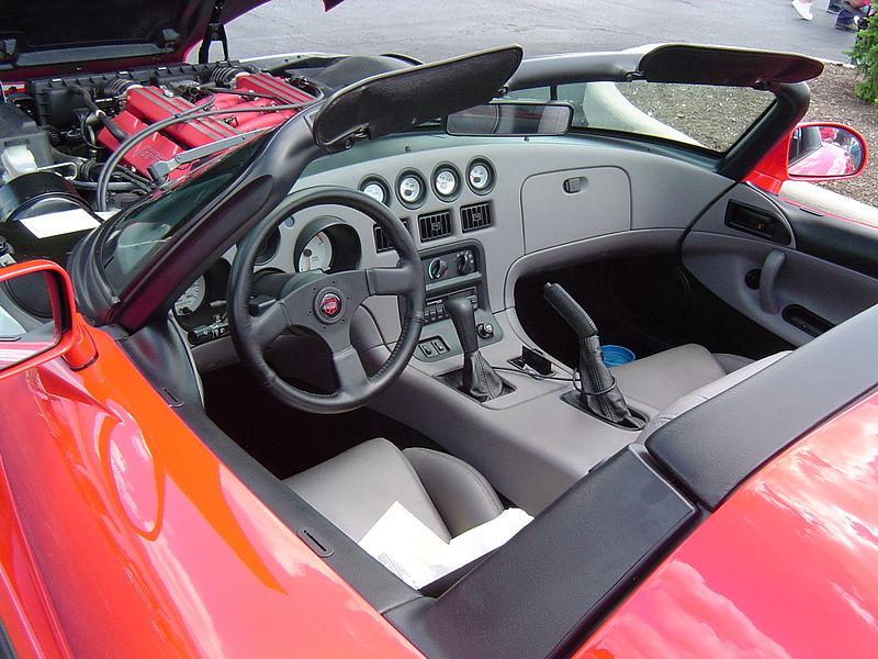 1992 Dodge Viper interior