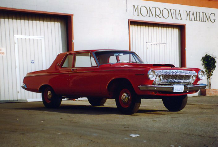 1st 1963 dodge 330 red-1