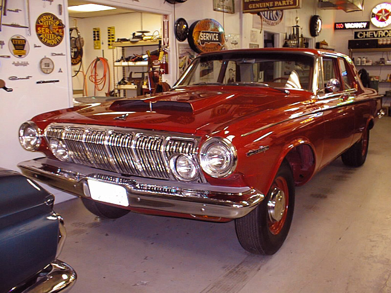1st 1963 Dodge 330 Red-5