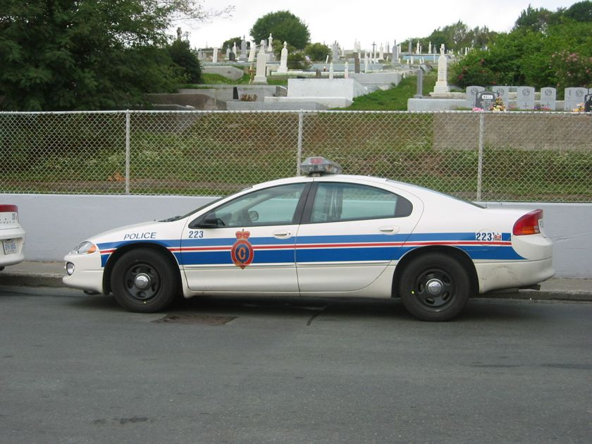 2003 Dodge Intrepid police car with the Royal Newfoundland Constabulary