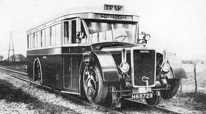 A COACH TYPE of road-railer built by the Karrier Motors, Ltd
