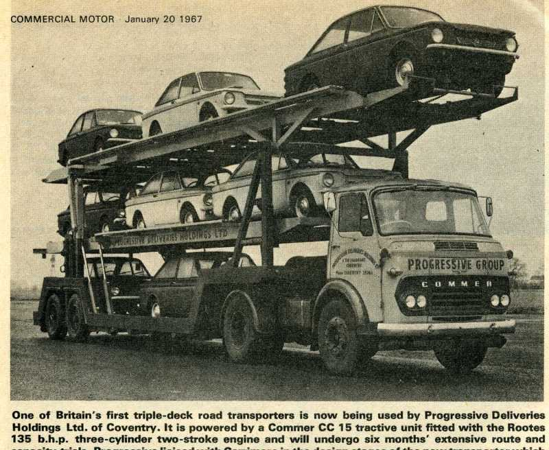 Commer CC 15 Triple Deck Car Transporter