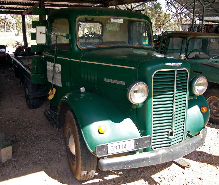Commer truck at the Whitton Museum