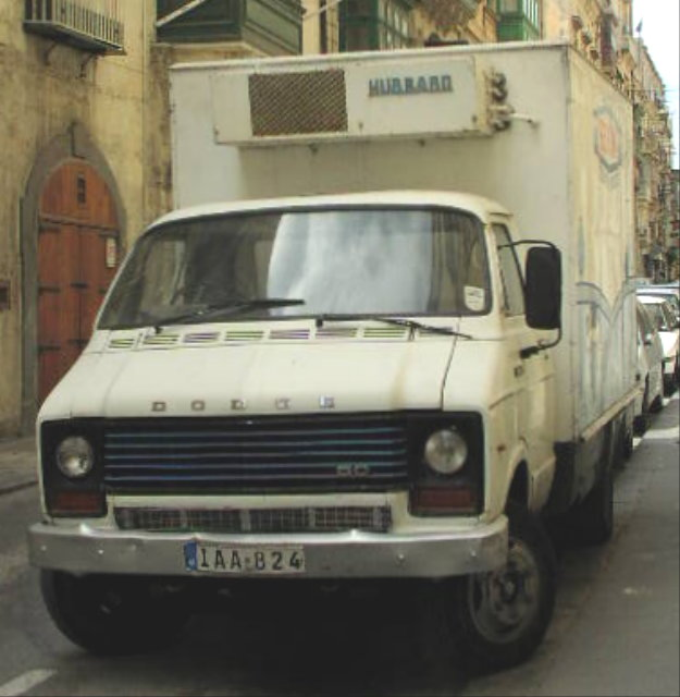 Dodge 50 with refrigeration unit for Benna-Milk in Malta