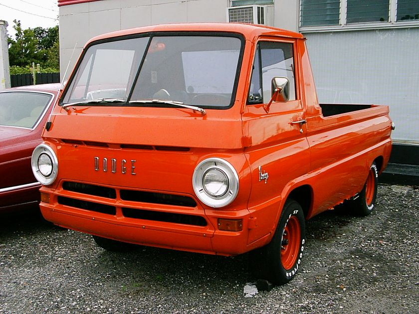 Dodge A100 COE pickup red