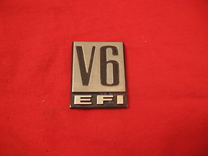 Dodge V6 EFI fender badge