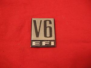Dodge V6 EFI fender badge