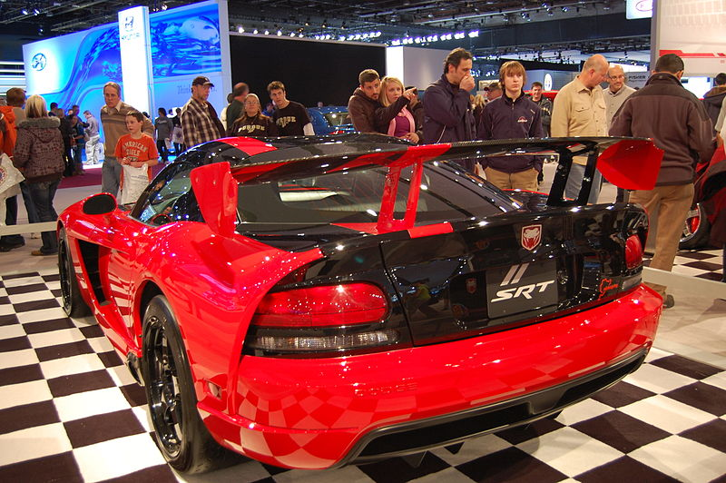 The back of the Dodge Viper ACR at the 2009 North American International Auto Show
