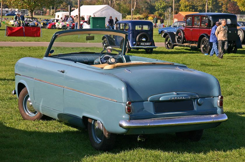 1952 Ford Consul MkI convertible Top Down rearo