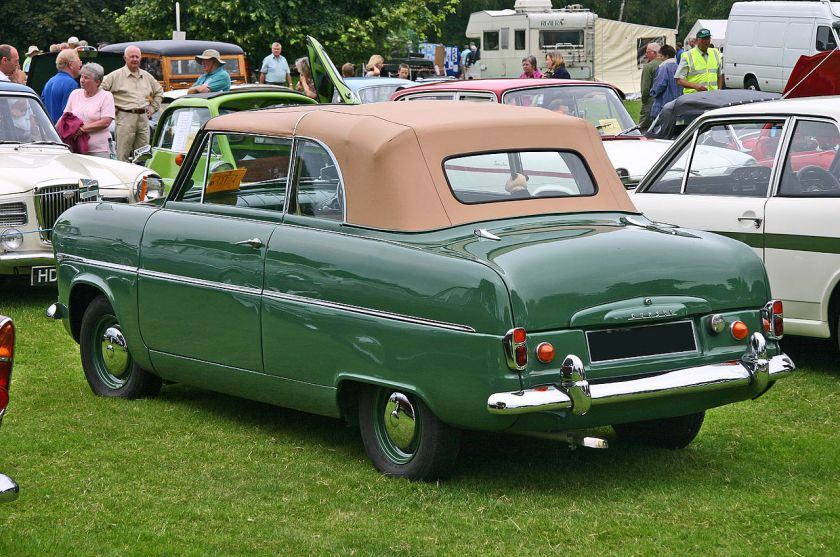 Ford Consul MkI convertible rear