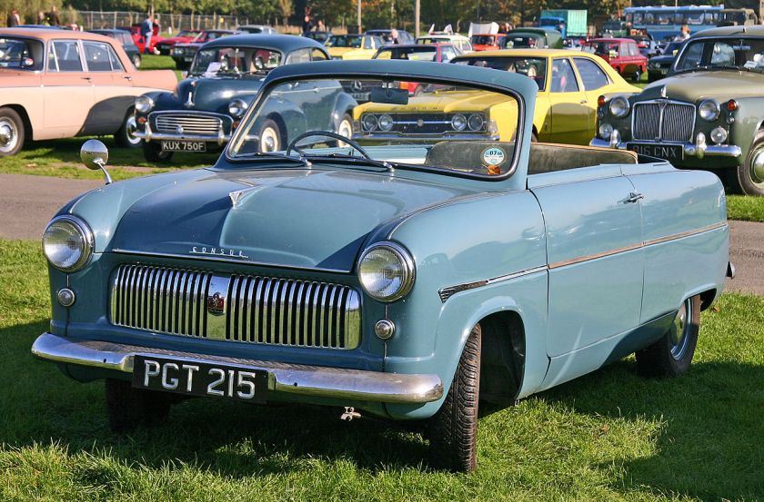Ford Consul MkI (EOTA). Carbodies of Coventry converted Ford Consul and Zephyr bodies.