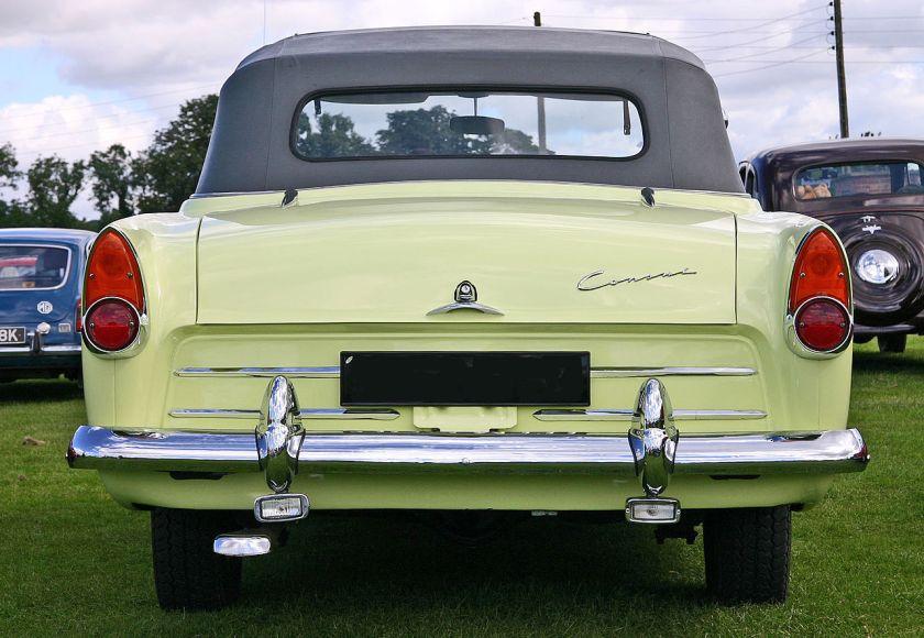 Ford Consul MkII (204E) Convertible rear