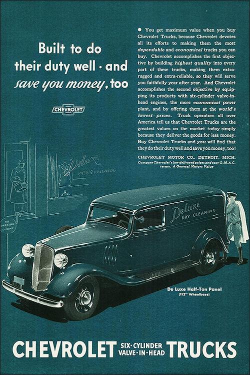1935 Chevrolet DeLuxe Half-Ton Panel Truck