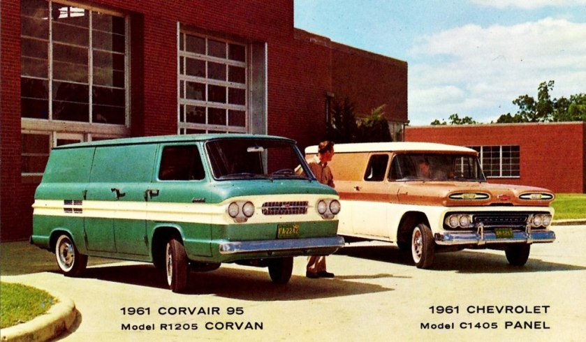 1961 Chevorlet Trucks - Corvair 95 model R1205 Corvan + Model C1405 Panel