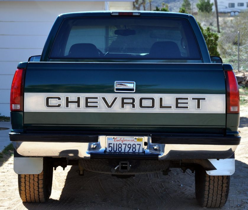 1997 C-K with Silverado Trim Package, displaying CHEVROLET on the tailgate.