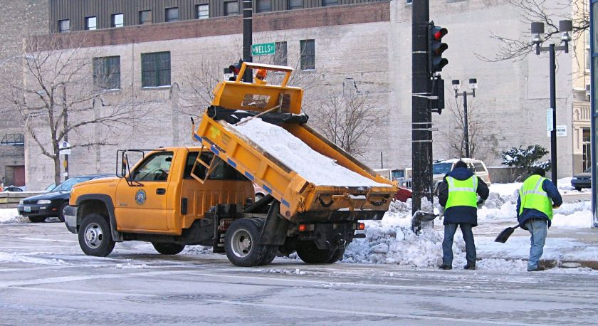 Dump truck in Milwaukee, Wisconsin