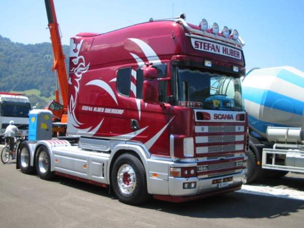 SCANIA 164 L couchette allongée