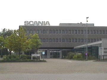 Scania-fabriek in Zwolle Nederland
