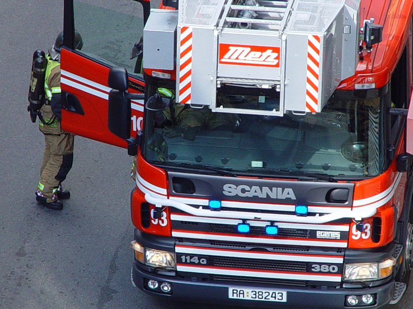Scania Ladderwagen Norwegian fire engine
