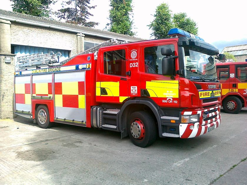 Scania P270 Fire Engine, Dublin Fire Brigade, Ireland
