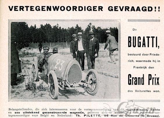 1920 bugatti importeur-gezocht
