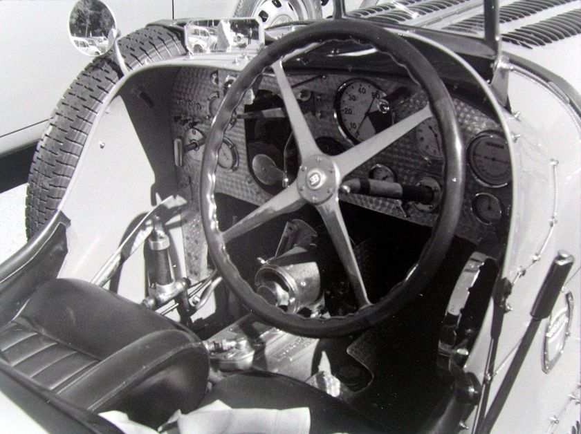 1931 Bugatti Type 51 cockpit with Wilson preselector gearbox