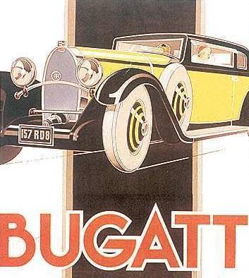 1933 Bugatti 57 reklame