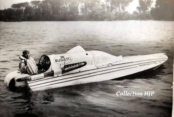 1934. Niniette II of prince Ruspoli. Bugatti T50 engine